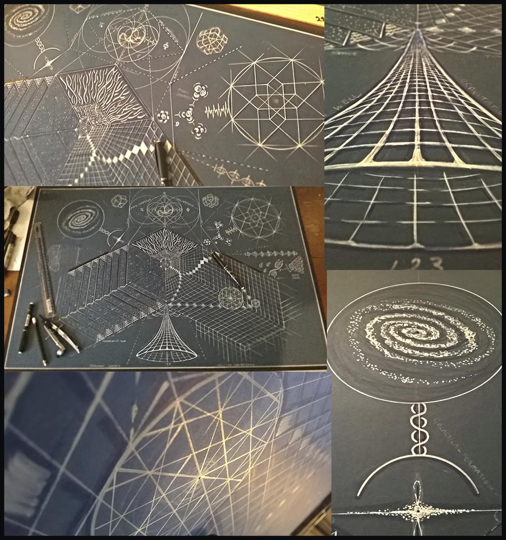 Schematic Art | Consciousness + Light / Wave = Form